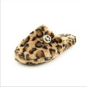"""Like New"" Michael Kors cheetah printer slippers"